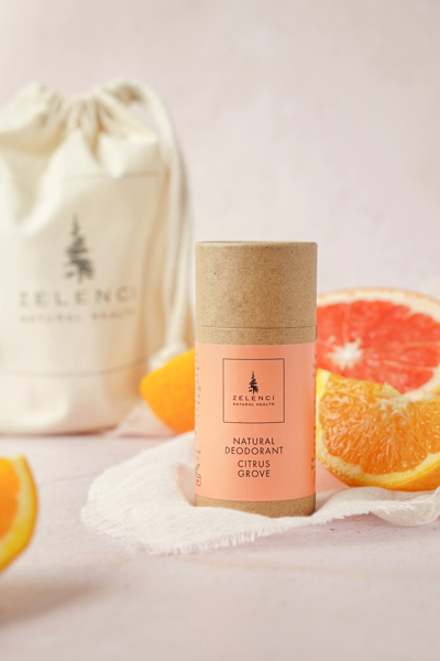 "Picture of Natural Deodorant  ""Citrus Grove"" with Zelenci medium Natural Cotton Tote bag"